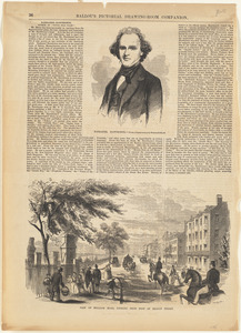 Nathaniel Hawthorne ; View of Milldam Road, looking from foot of Beacon Street