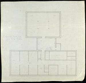 Basement floor plan- administrative building