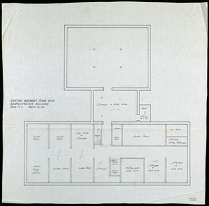 Existing basement floor plan- administrative building