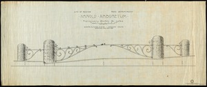 Arnold Arboretum: preliminary sketch for gates