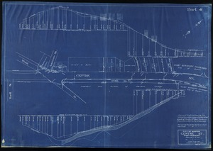 Plan and profile showing the relocation, widening and established grade of Centre St. West Roxbury from Church St. to the Arborway