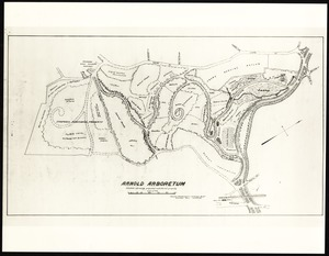 Folder of Arnold Arboretum maps from 1900-1936