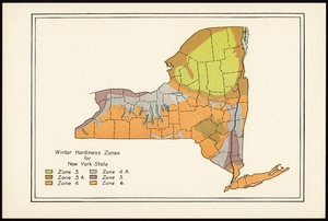 Winter hardiness zones for New York State