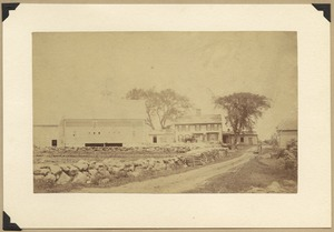 Humphrey Prescott farm buildings, before 1880