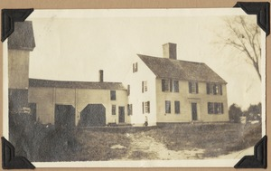 The Abraham Hutchins place, struck by lighting and burned