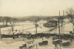 Flood height at the dam March 20, 1936