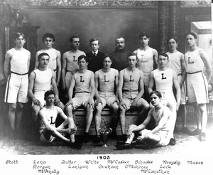 1903 Lawrence High School track team