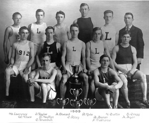 1909 Lawrence High School track team
