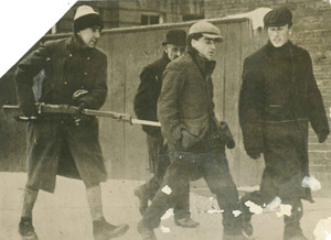 Charging strikers with bayonets Lawrence, Mass. Strike Jan. 19, 1912 from the NY Herald Syndicate