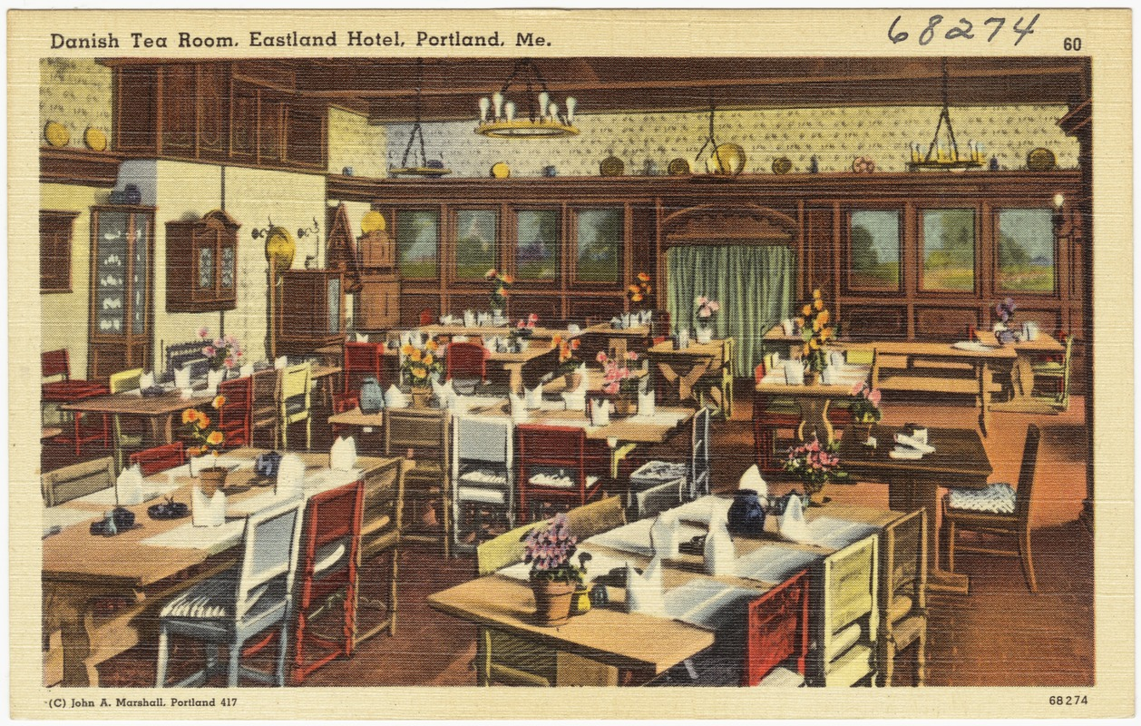 Danish Tea Room, Eastland Hotel, Portland, Me.