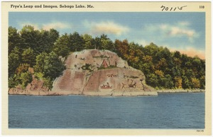Frye's Leap and Images, Sebago Lake, Maine