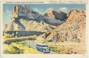 Carlsbad Caverns Coach en route to Caverns