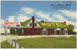 "Green Bables Motel, Sanford, North Carolina, "" A better place to stop"""