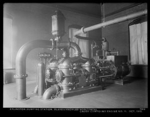Distribution Department, Arlington Pumping Station, Blake & Knowles horizontal cross-compound engine No. 11, Arlington, Mass., Oct. 1916