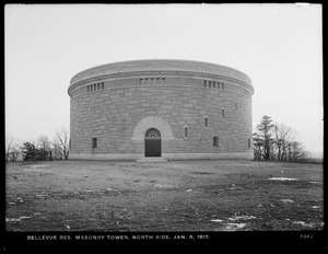 Distribution Department, southern Extra High Bellevue Reservoir, north side of masonry tower, Bellevue Hill; interior, West Roxbury, Mass., Jan. 8, 1917