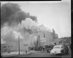 Fire at the First National stores in Wollaston