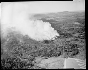 Aerial view of forest fire