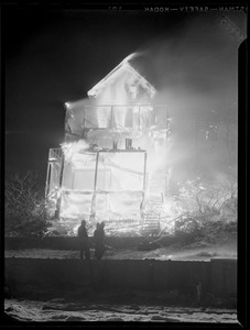 Destroyed house