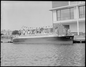 Miniature SS Bremen in Charles River
