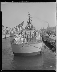Destroyer USS Timmerman commissioned, Boston