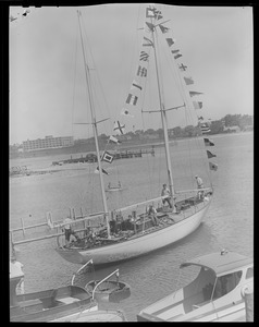 "Launching of the sailboat ""Stormy Petrel"""
