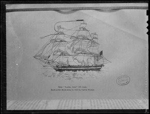 Photo of Boston Public Library print of ship Laura Ann
