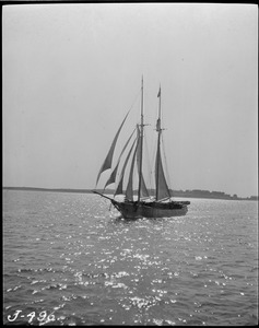 Sailing vessel in harbor