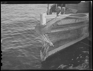 "Boat accidents. Tug boat ""George A. Hibbard."""