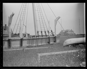 Green Estate - Dartmouth, MA. Chas. P. Morgan, whaling ship now at Mystic Seaport.