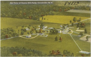 Air view of Sunny Hill Farm, Greenville, N. Y.