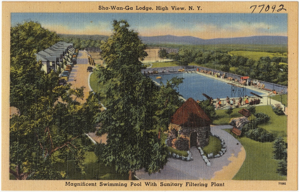 Sha-Wan-Ga Lodge, High View, N. Y. Magnificent swimming pool with sanitary filtering plant