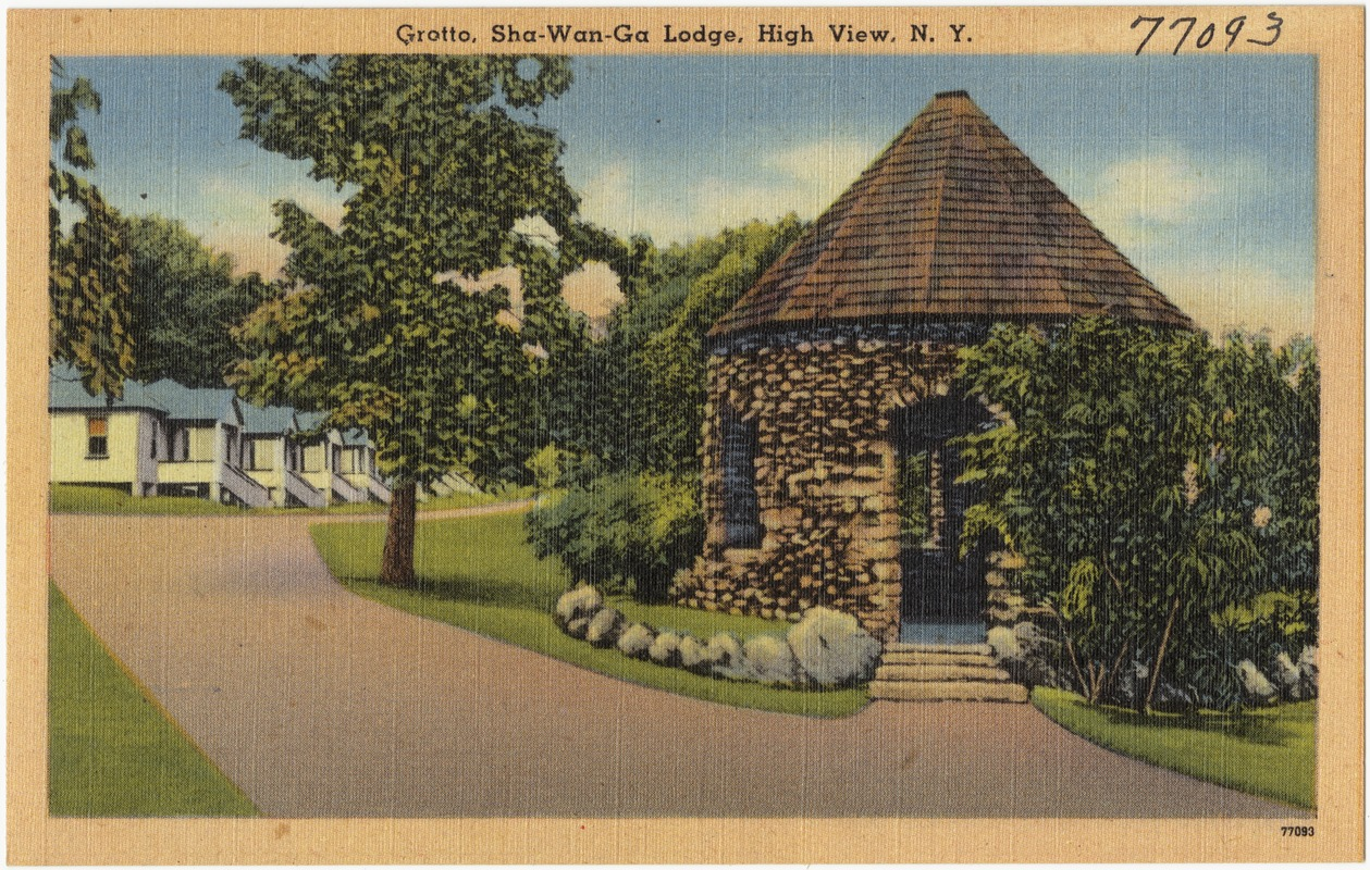 Grotto, Sha-Wan-Ga Lodge, High View, N. Y.