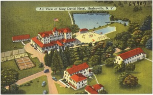 Air view of King David Hotel, Hurleyville, N. Y.