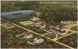 Air view, Hotel Gibber, Kiamesha Lake, N. Y.