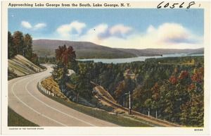 Approaching Lake George from the South, Lake George, N. Y.