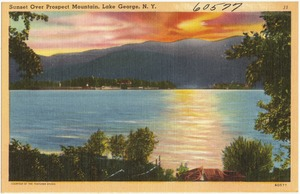 Sunset over Prospect Mountain, Lake George, N. Y.