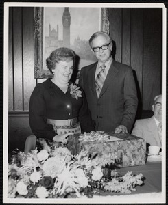 Miss Francis Smith and Dr. Harold Stein