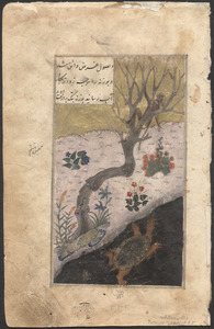 Single leaf from a 15th-century Persian manuscript