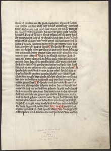 Single leaf from an unidentified 15th-century commentary on Isaiah 3 and 4