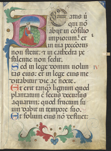 Two Bifolia from a ca. 15th-century ferial psalter