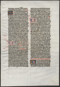 Single leaf from a mid-15th-century lectionary