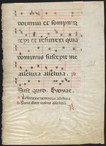 Single leaf from a 14th-century antiphonal