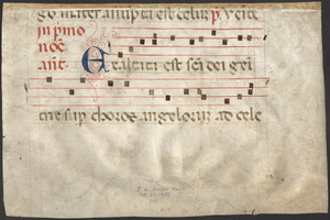 Cutting from a 13th-century antiphonal
