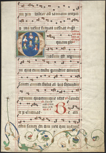 Single leaf from a 15th-century antiphonal