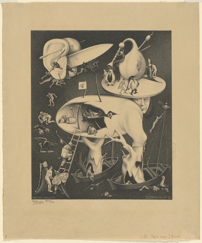 """""""Hell,"""" copy after [a scene] by Hieronymus Bosch"""