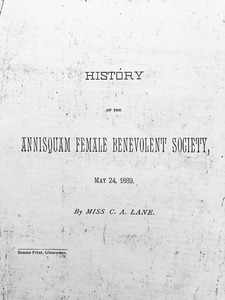 History of the Annisquam Female Benevolent Society
