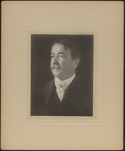 Portrait photograph of James Jeffrey Roche (1847-1908), Mass., ca. 1893