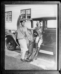 18 year old Helen Hicks with 17 year old Aviatrix Elinor Smith. Farmingdale, N.Y.