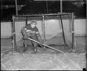 Art Ross, Jr. in goal, 1928-1929