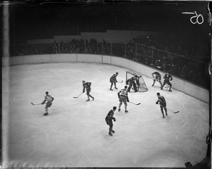Clapper of the Bruins in action, 1930-1931